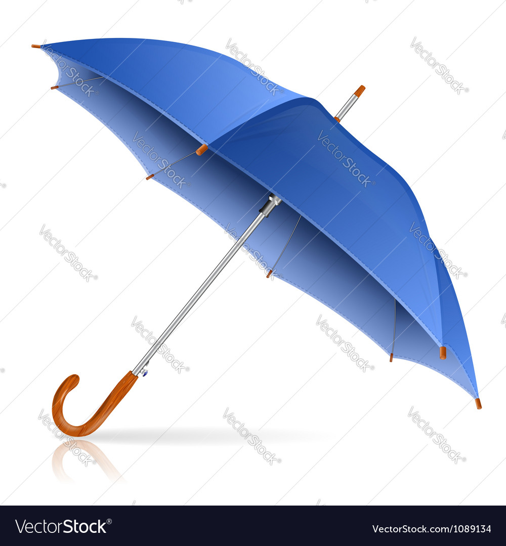 Blue umbrella vector | Price: 1 Credit (USD $1)