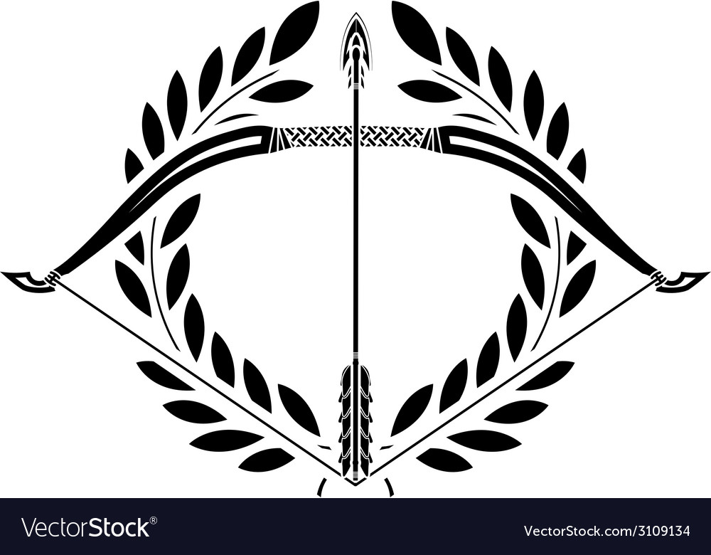 Bow and laurel wreath vector | Price: 1 Credit (USD $1)