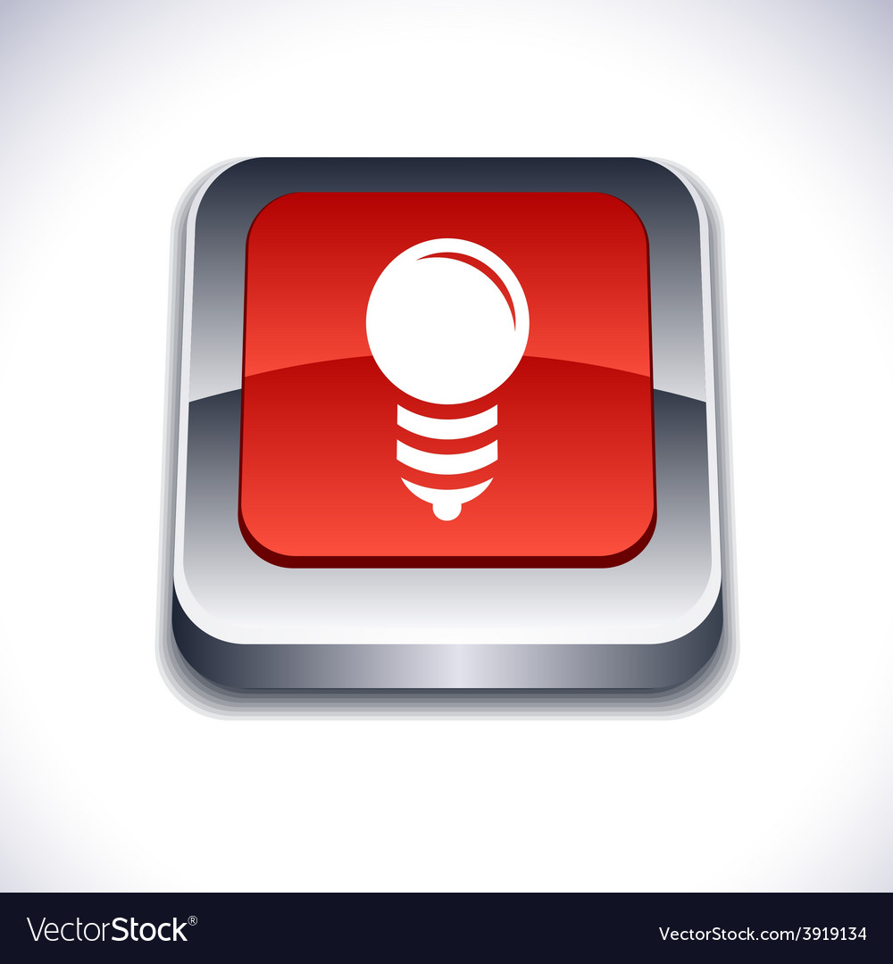 Bulb 3d button vector | Price: 1 Credit (USD $1)