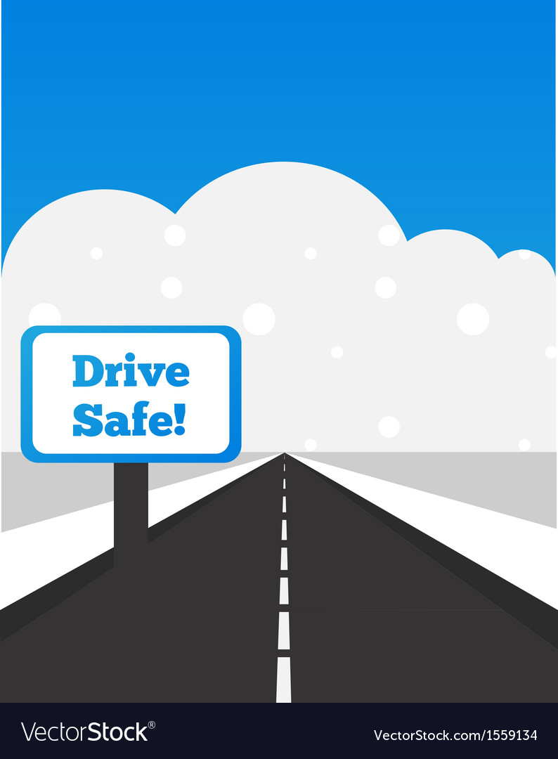 Drive carefully at winter time vector | Price: 1 Credit (USD $1)