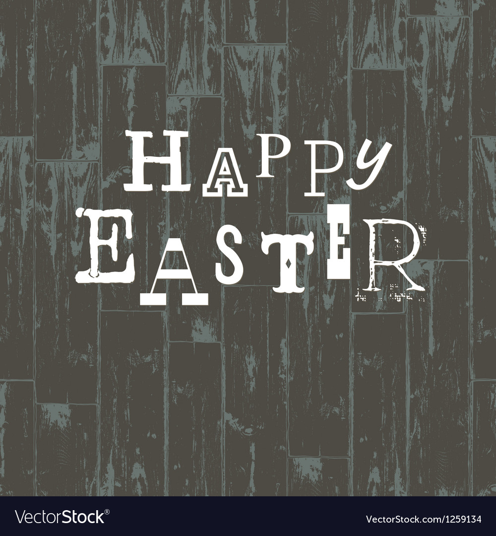 Happy easter card vintage vector | Price: 1 Credit (USD $1)