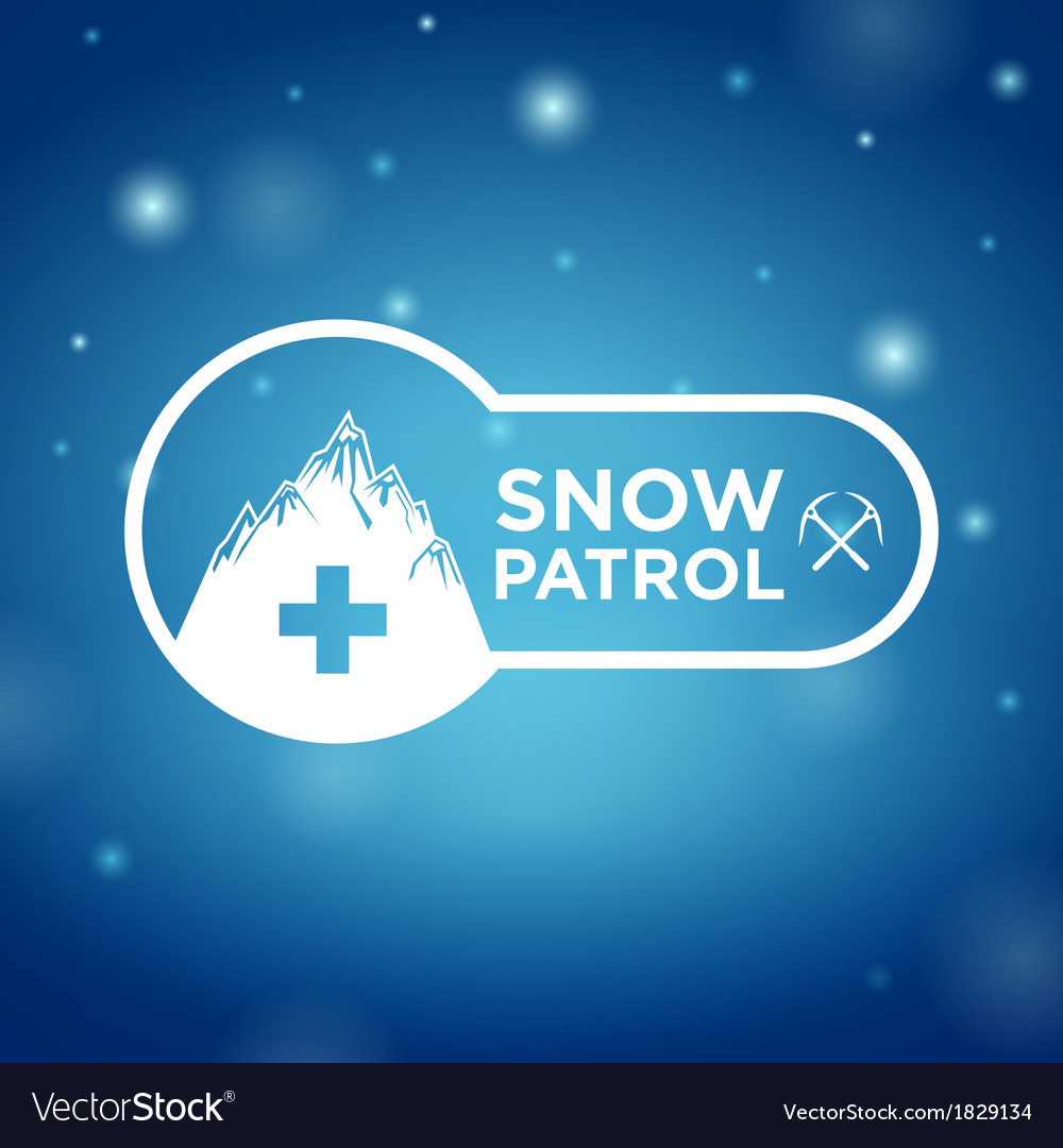 Logotype snow patrol on blue background vector | Price: 1 Credit (USD $1)