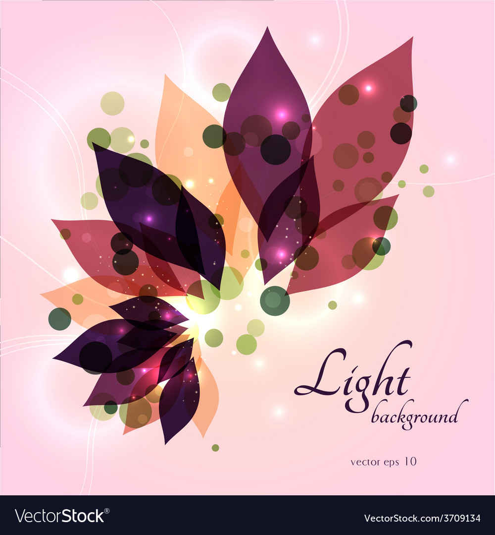 Magical glowing floral background vector | Price: 1 Credit (USD $1)