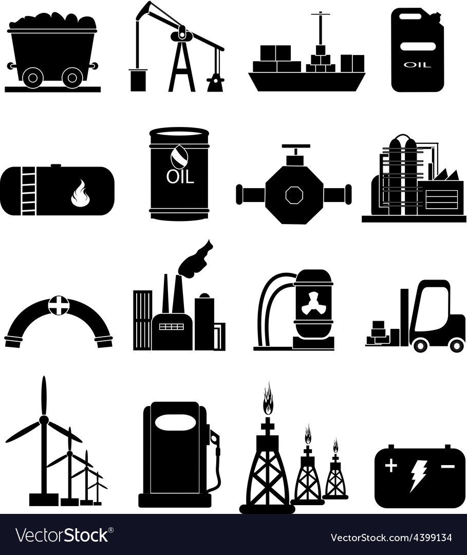 Oil industry icons set vector | Price: 3 Credit (USD $3)