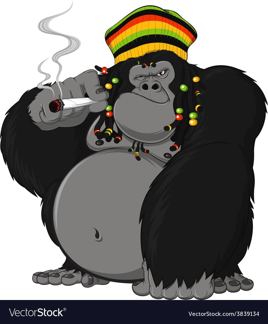Rastafarian monkey vector | Price: 3 Credit (USD $3)