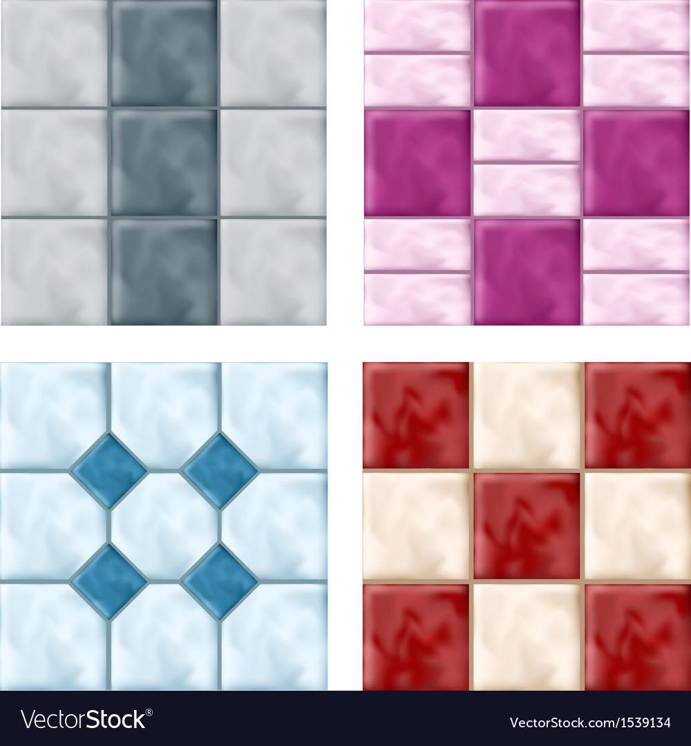 Tile set pattern vector | Price: 1 Credit (USD $1)