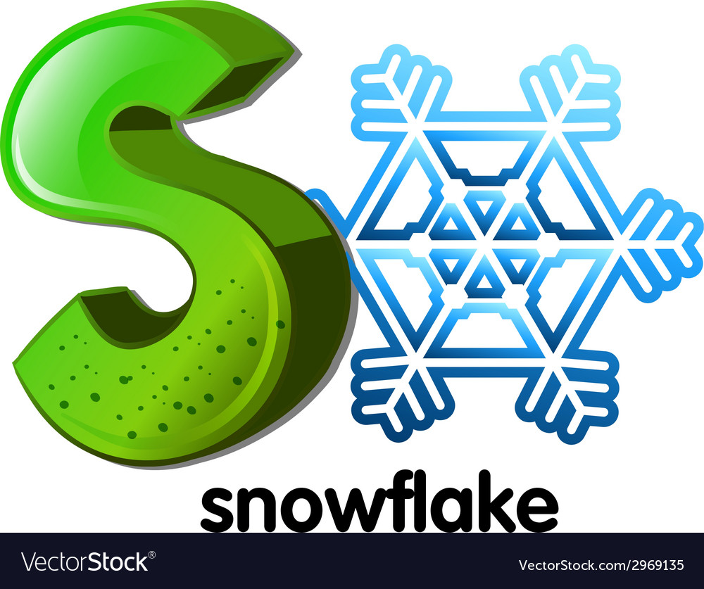 A letter s for snowflake vector | Price: 1 Credit (USD $1)