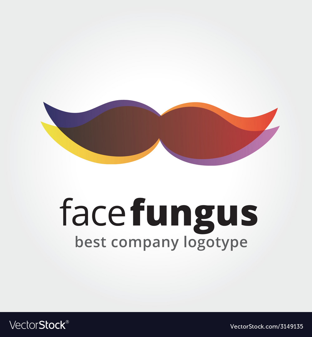 Abstract whiskers logotype concept isolated on vector | Price: 1 Credit (USD $1)