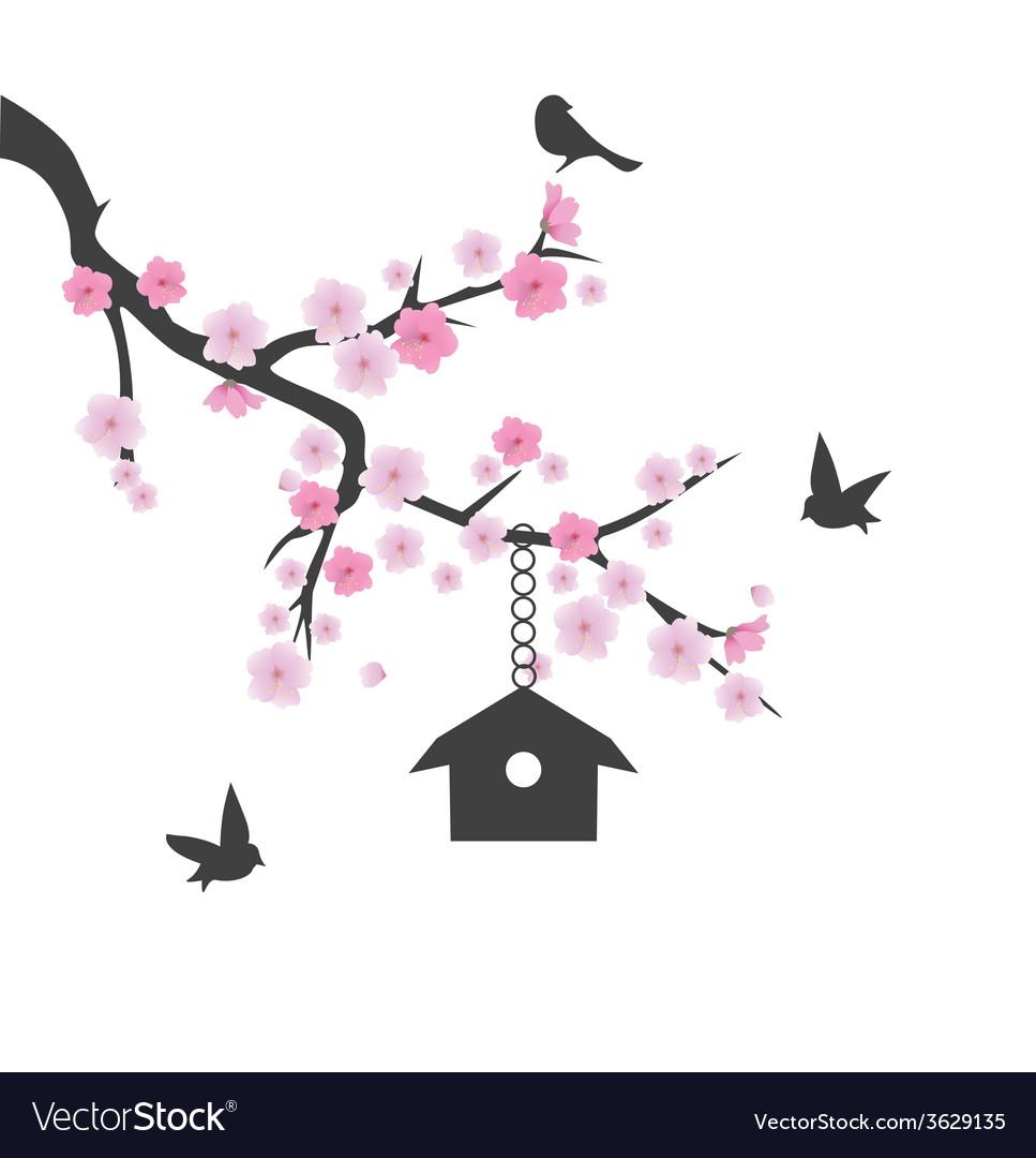Birds house vector | Price: 1 Credit (USD $1)