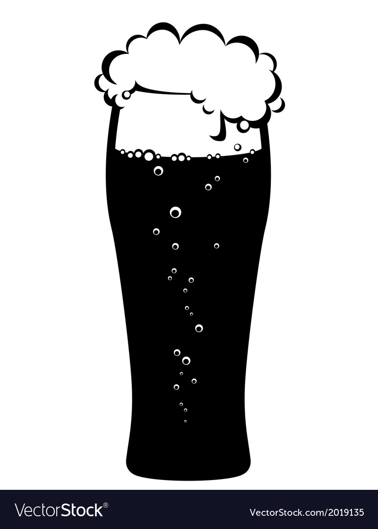 Black glass of beer vector | Price: 1 Credit (USD $1)