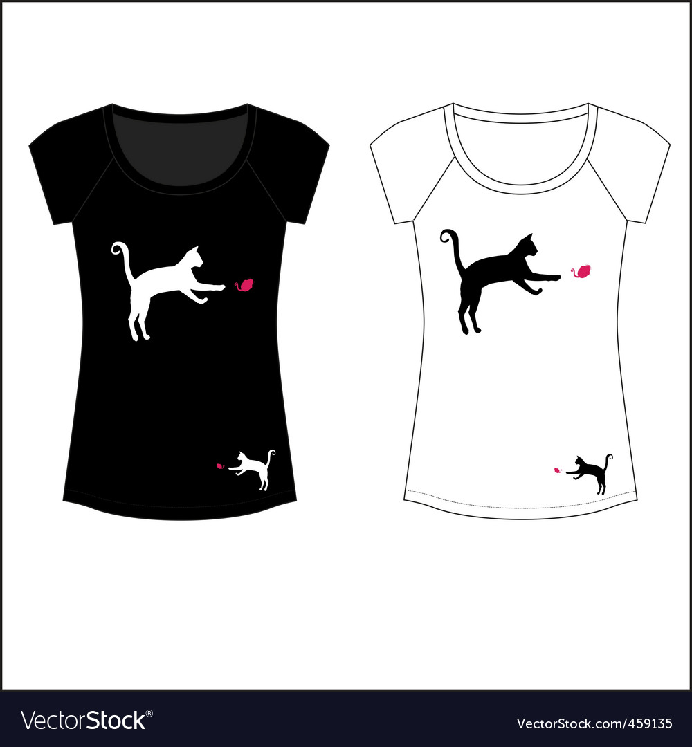Cat woman t shirt print vector | Price: 1 Credit (USD $1)