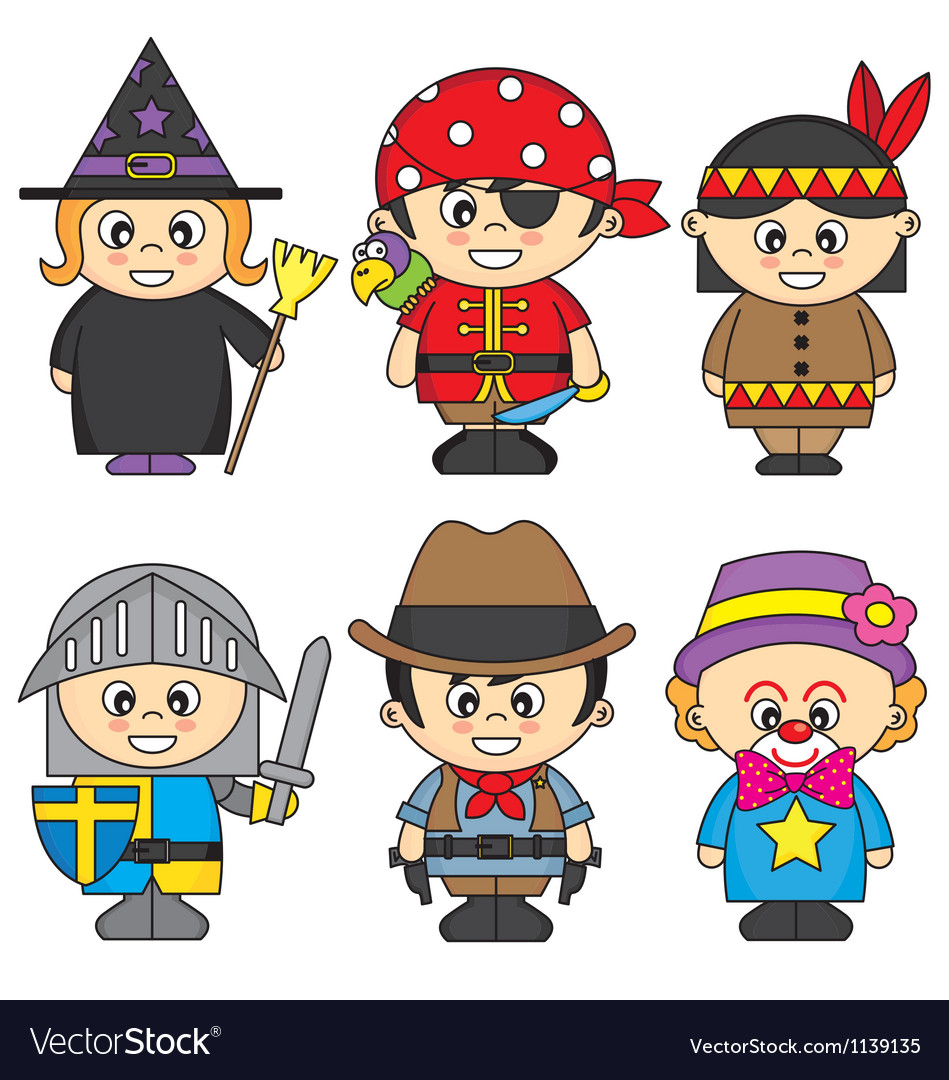 Children dressed vector | Price: 1 Credit (USD $1)