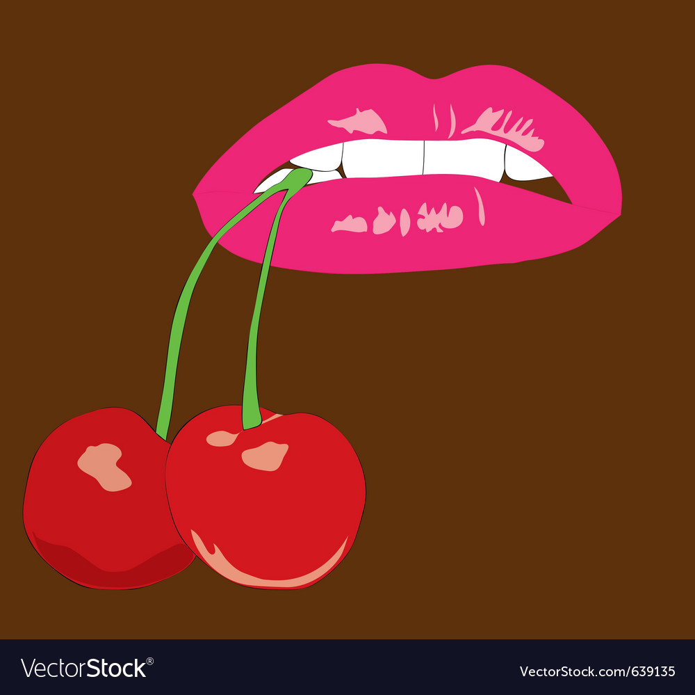 Juicy cherry vector | Price: 1 Credit (USD $1)