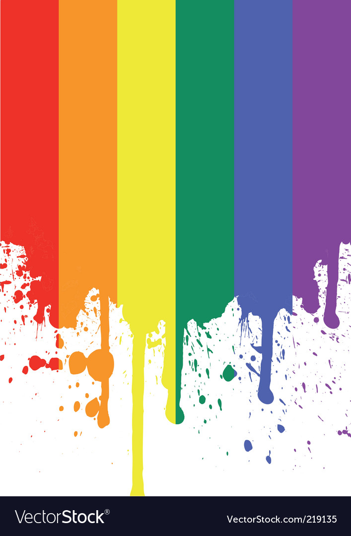 Rainbow flag vector | Price: 1 Credit (USD $1)