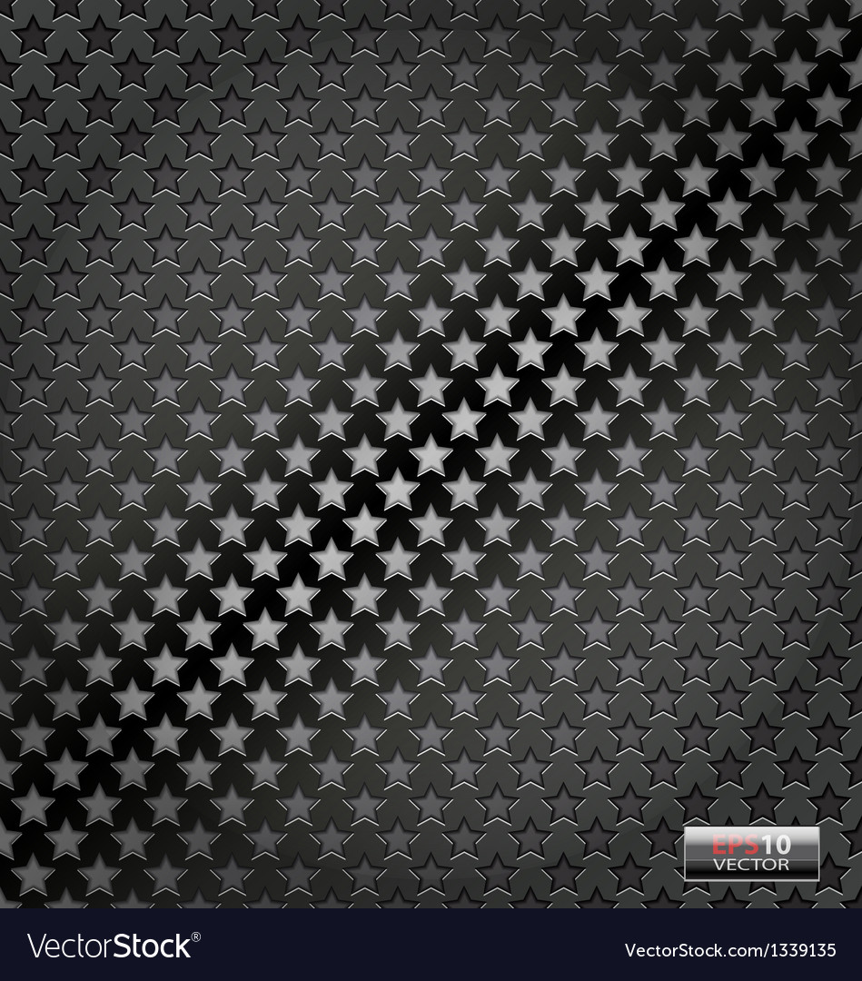 Star lite dynamic metal background vector | Price: 1 Credit (USD $1)