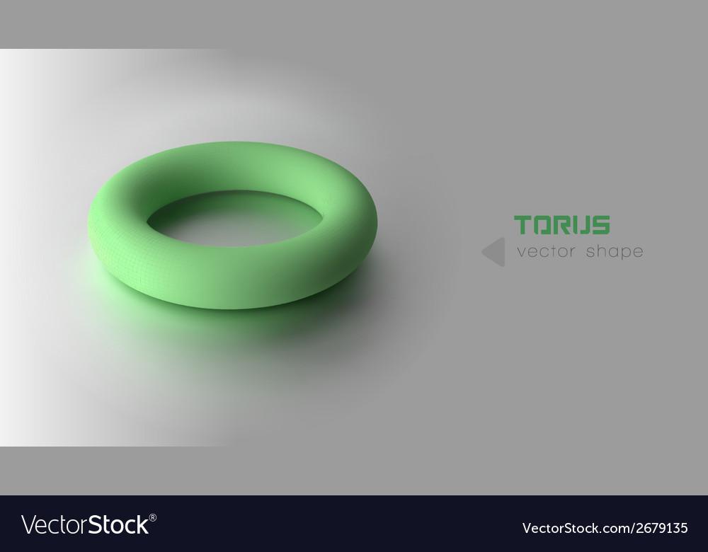 Torus green vector | Price: 1 Credit (USD $1)