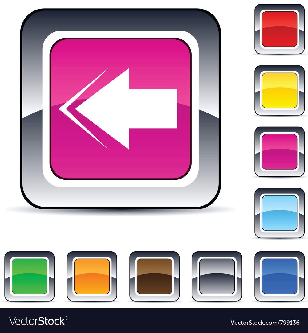 Back arrow square button vector | Price: 1 Credit (USD $1)