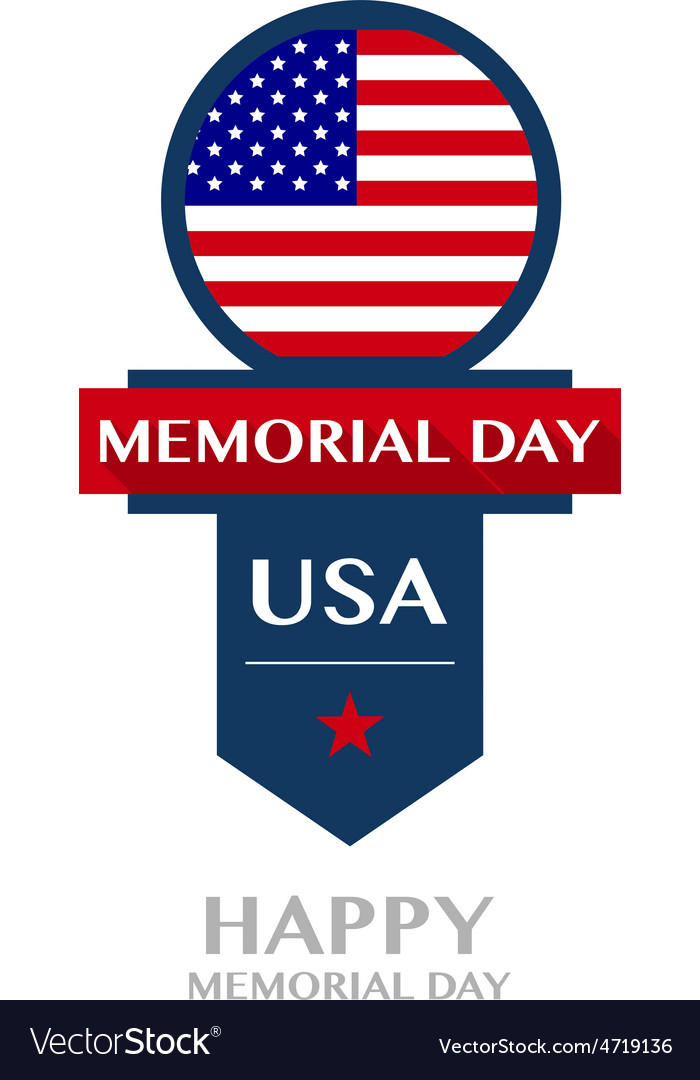 Happy memorial day badge and labels vector | Price: 1 Credit (USD $1)