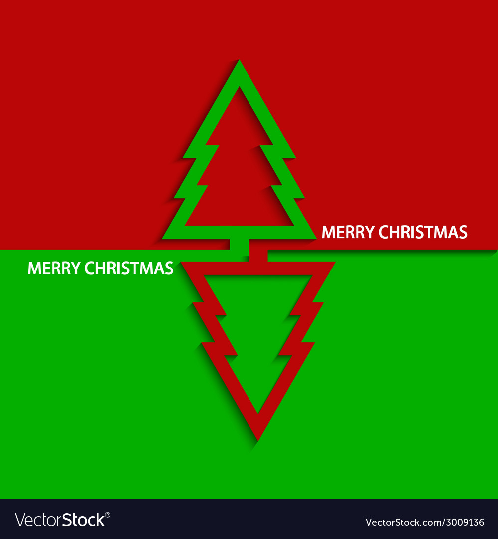 Modern christmas tree vector | Price: 1 Credit (USD $1)