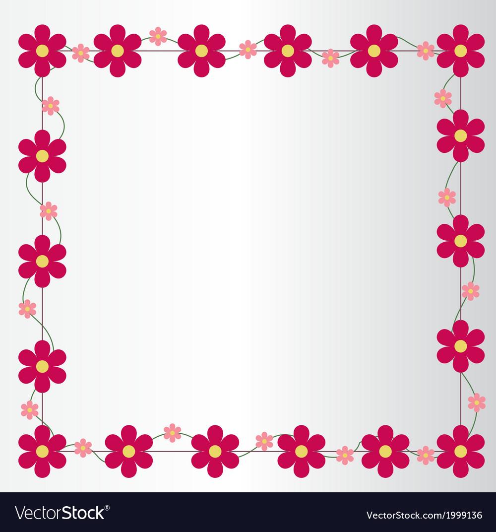 Pinkflowerspictureframe preview vector