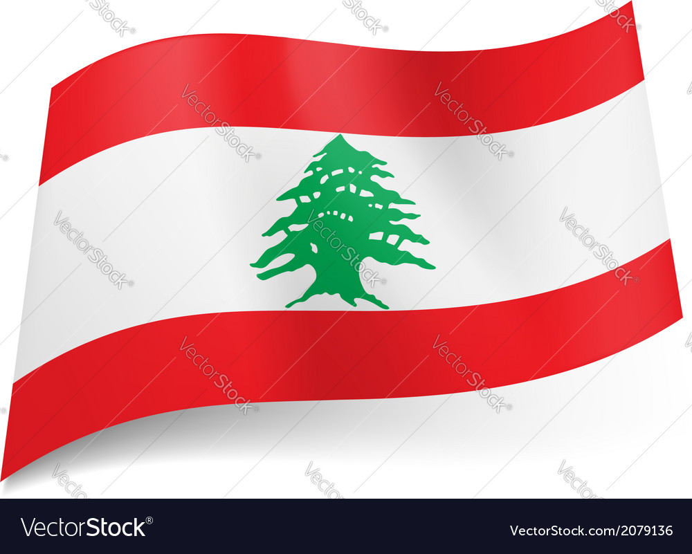 State flag of lebanon vector | Price: 1 Credit (USD $1)