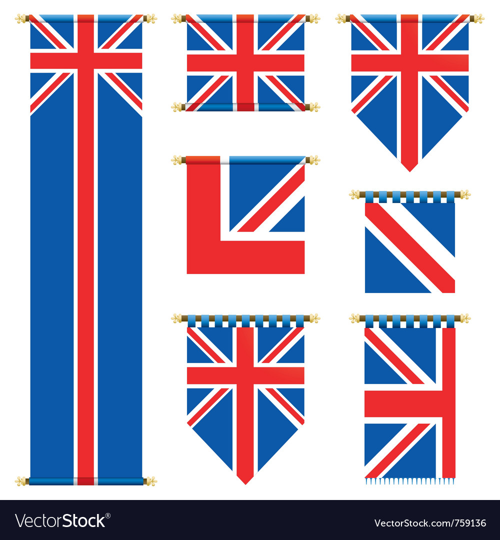 United kingdom banners vector | Price: 1 Credit (USD $1)
