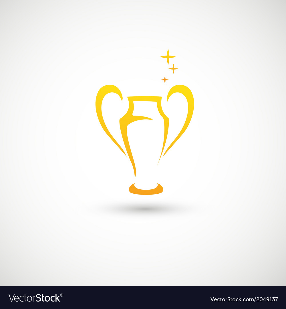 Champions cup icon vector   Price: 1 Credit (USD $1)