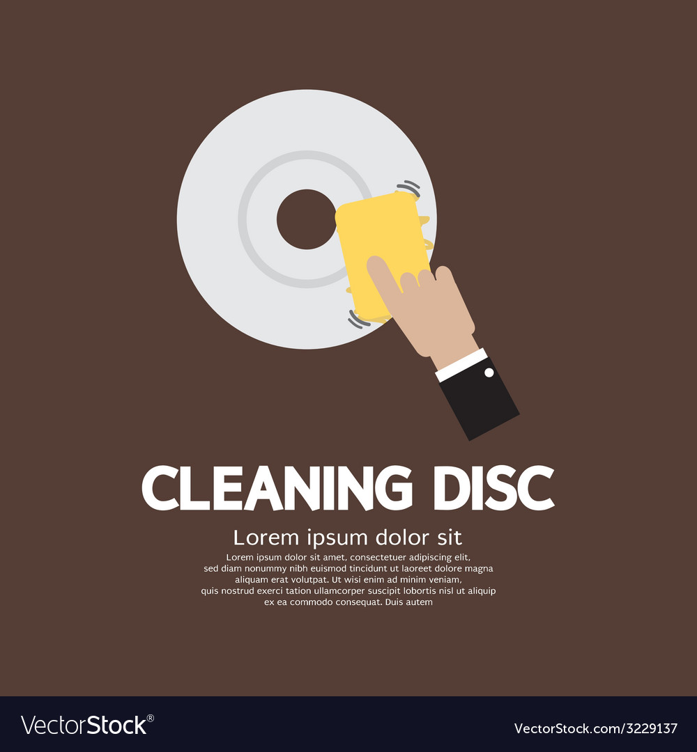 Cleaning disc graphic vector | Price: 1 Credit (USD $1)