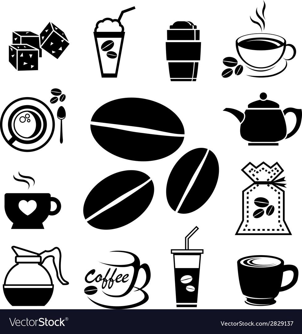 Coffee icon set vector | Price: 1 Credit (USD $1)