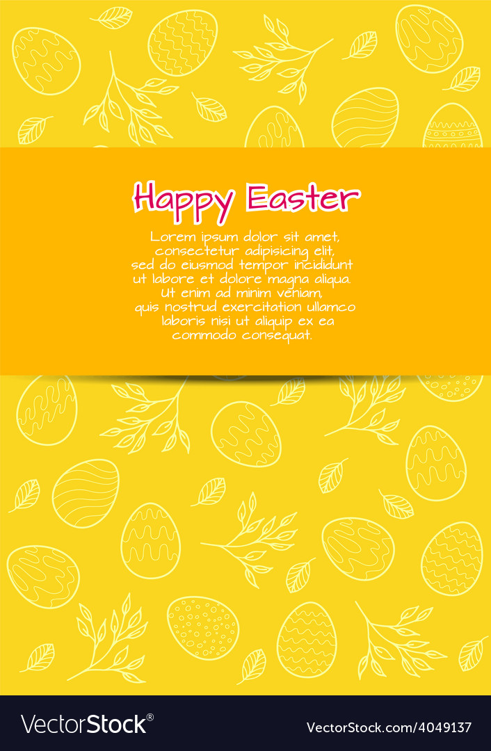 Flyer template for easter vector | Price: 1 Credit (USD $1)