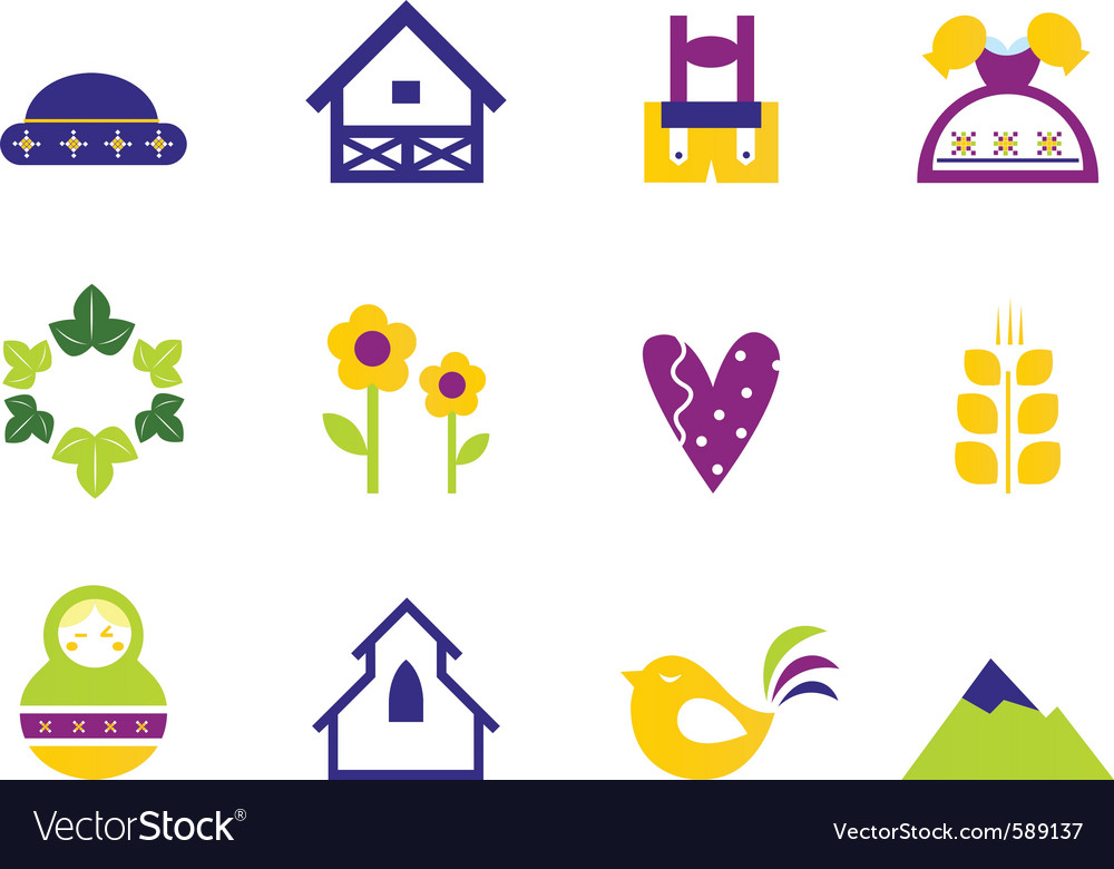 Folk nature vector | Price: 1 Credit (USD $1)