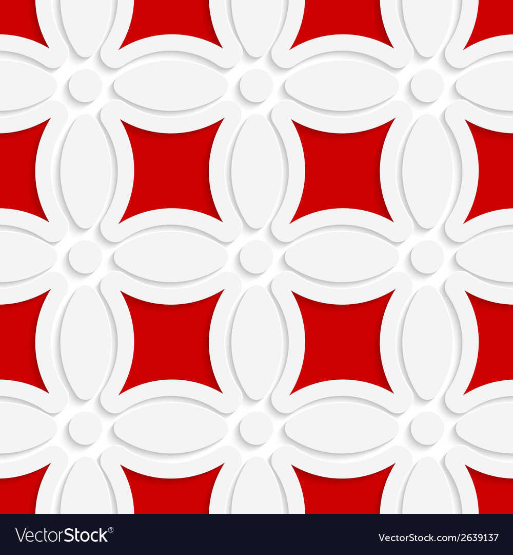 Geometric white pattern with red vector | Price: 1 Credit (USD $1)