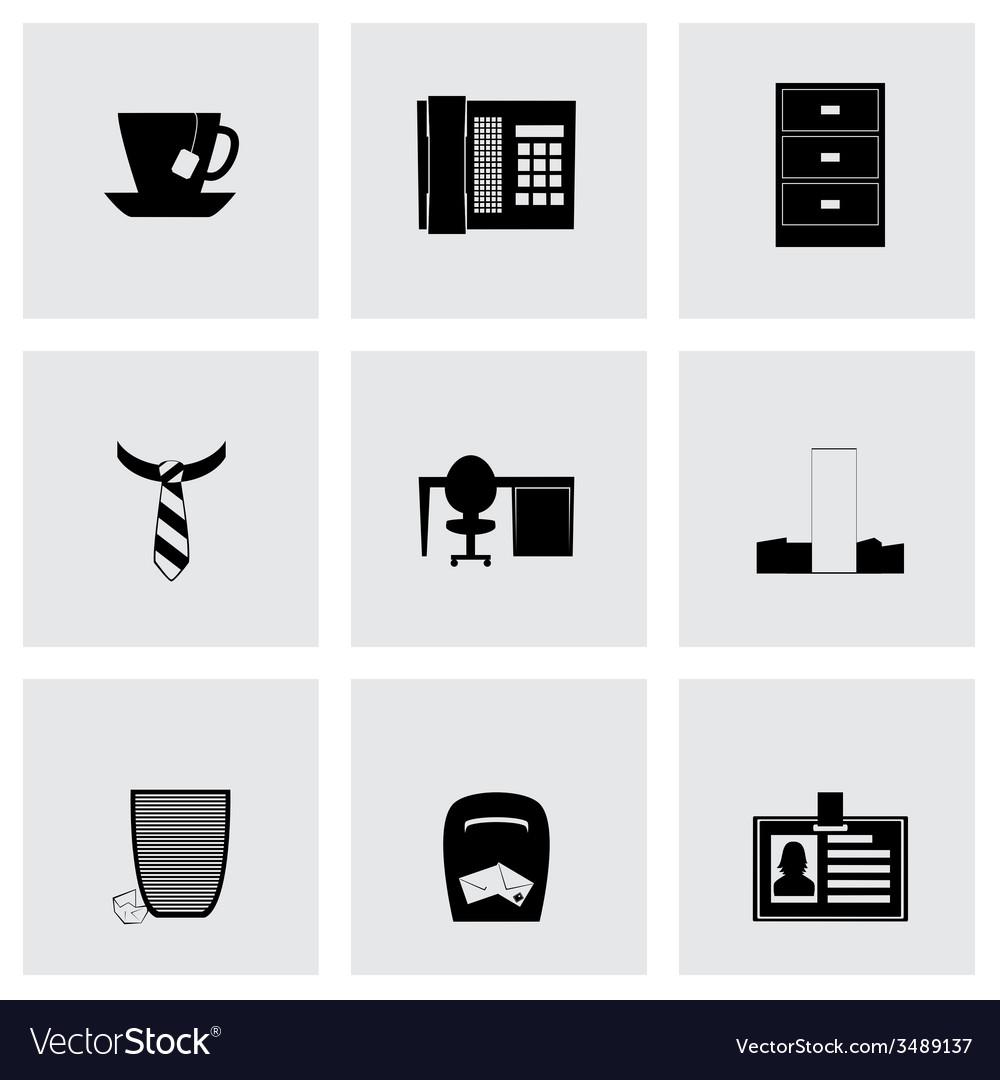 Office icon set vector   Price: 1 Credit (USD $1)