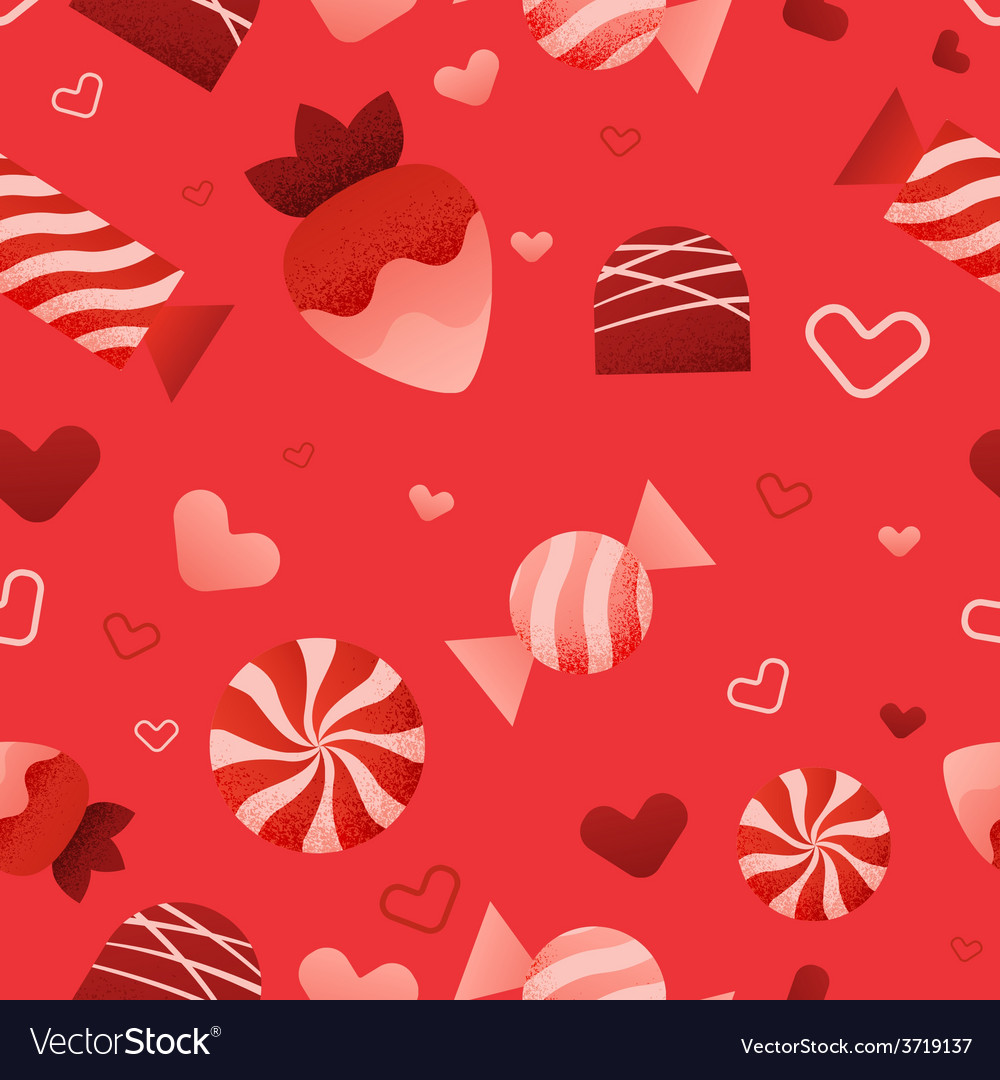 Seamless valentines day pattern vector | Price: 1 Credit (USD $1)
