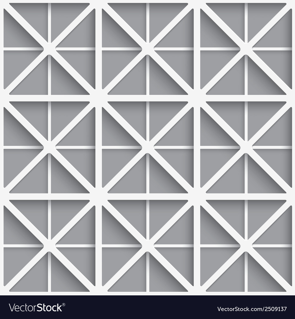 Seamless white geometrical background vector | Price: 1 Credit (USD $1)