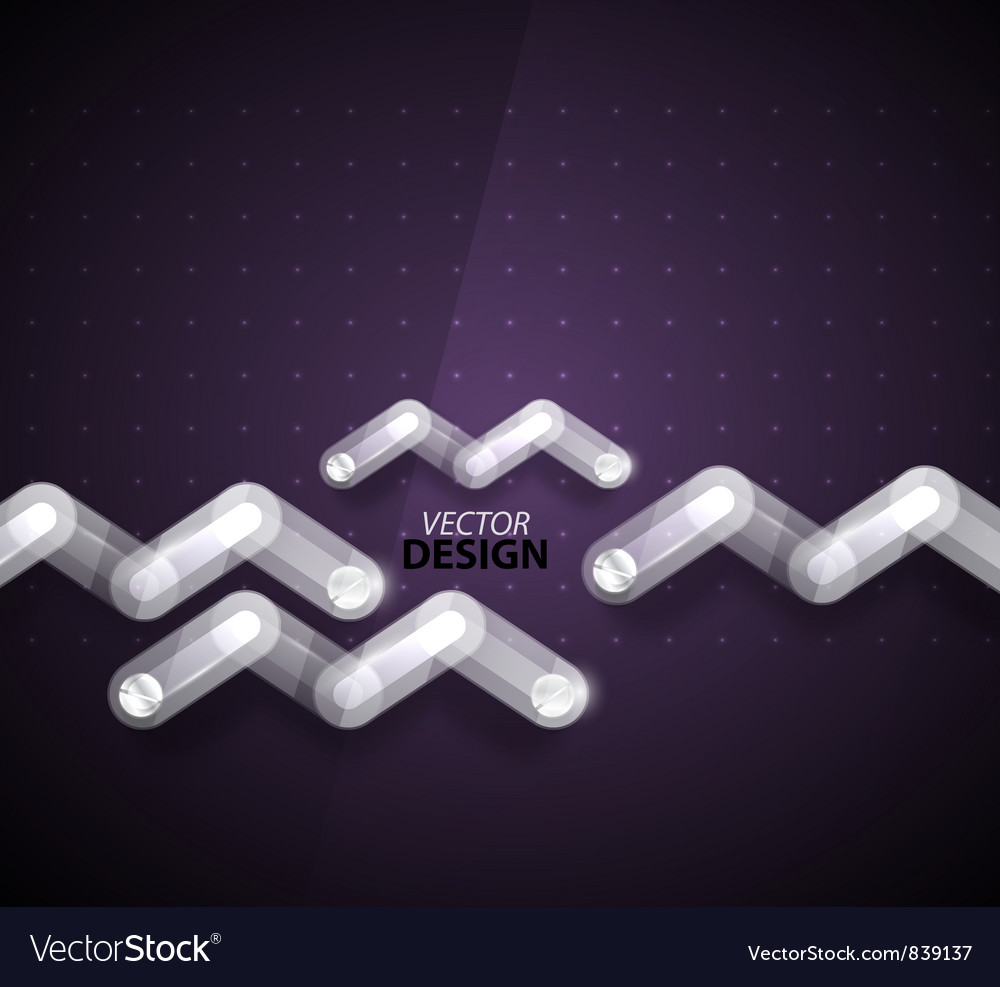 Technology zigzag glass background vector | Price: 1 Credit (USD $1)