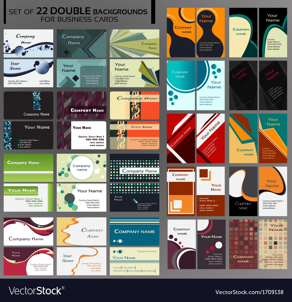 44 backgrounds for business cards vector | Price: 3 Credit (USD $3)