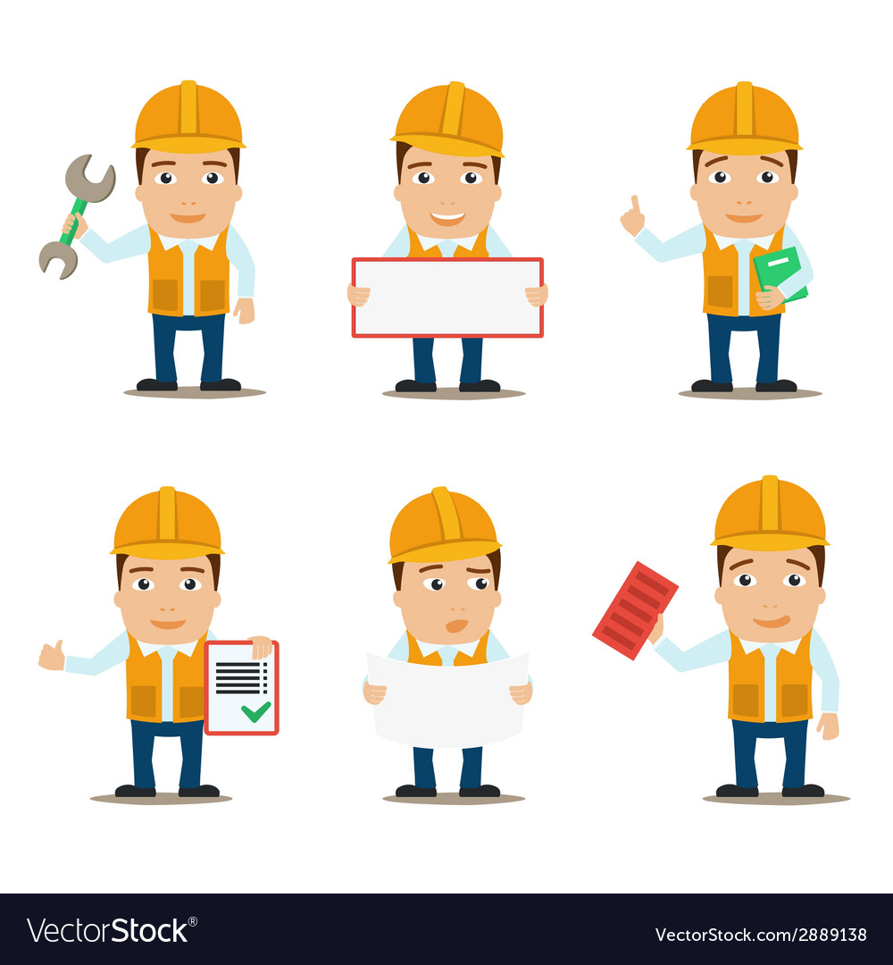Builder characters set vector | Price: 1 Credit (USD $1)