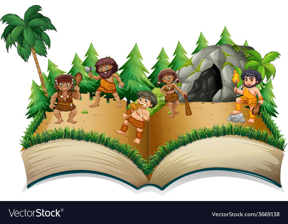 Caveman book vector | Price: 3 Credit (USD $3)