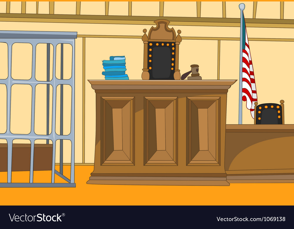 Court cartoon vector | Price: 1 Credit (USD $1)