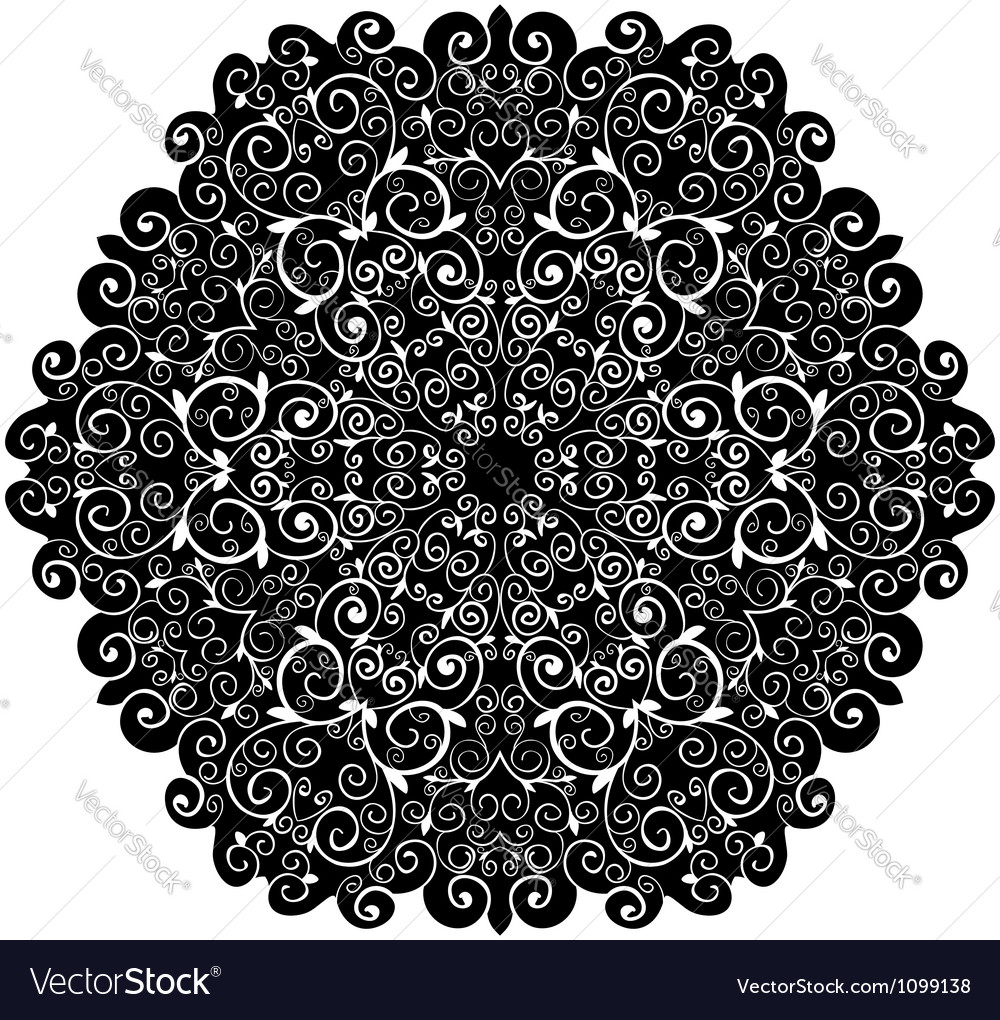 Doily pattern background with isolation on a white vector | Price: 1 Credit (USD $1)