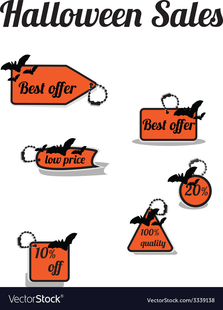 Haloween sales vector | Price: 1 Credit (USD $1)
