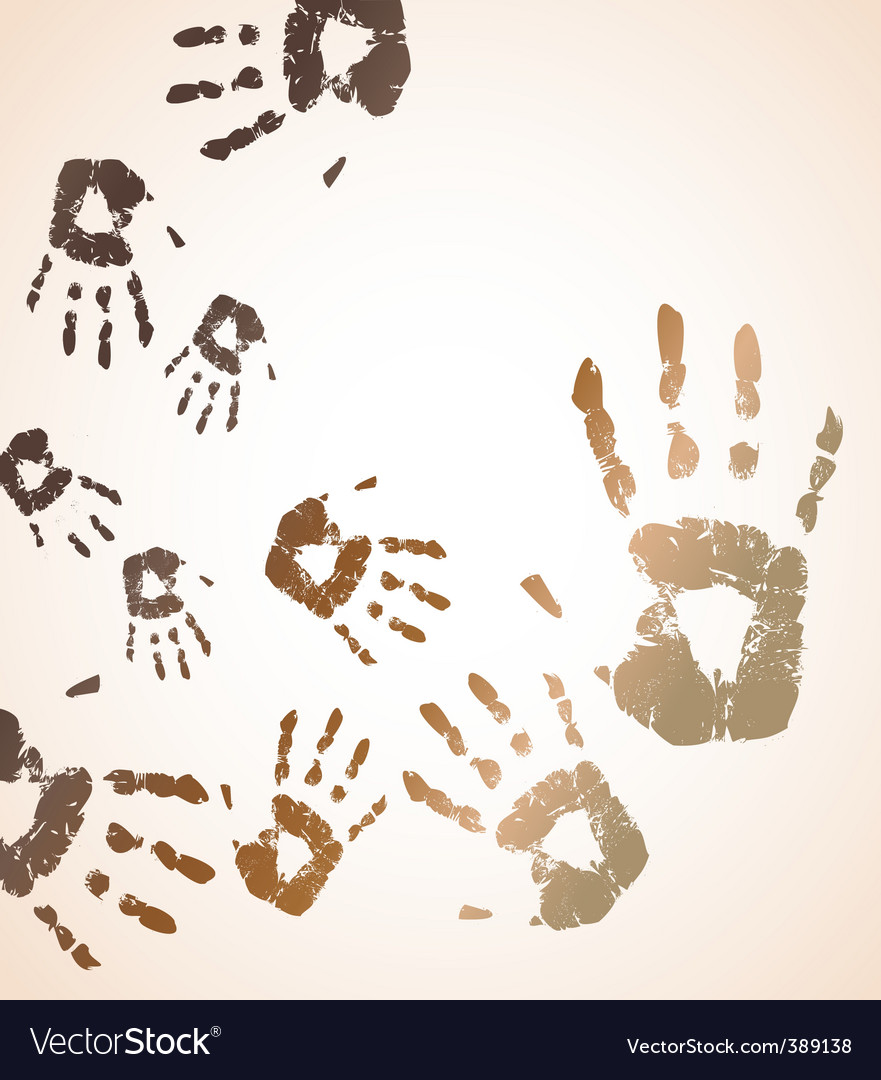 handprint color background vector | Price: 1 Credit (USD $1)