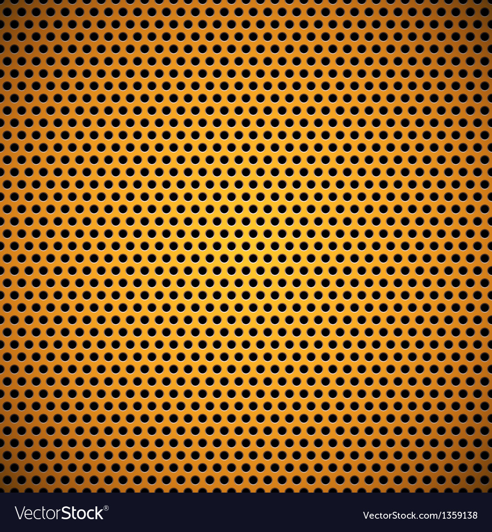 Orange seamless circle perforated grill texture vector | Price: 1 Credit (USD $1)