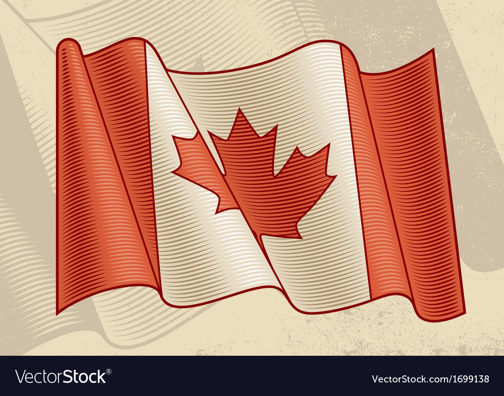 Vintage canadian flag vector | Price: 1 Credit (USD $1)