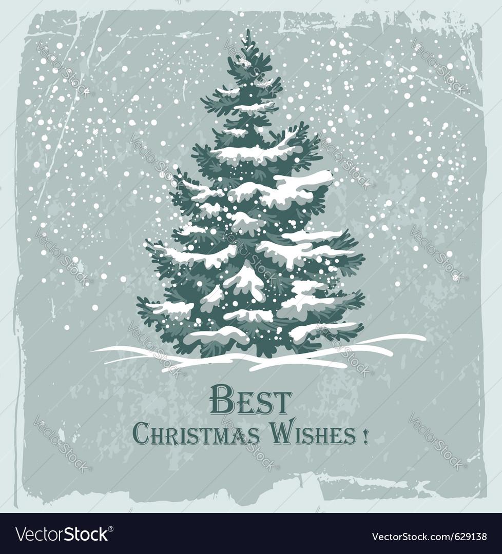 Vintage christmas card vector | Price: 1 Credit (USD $1)