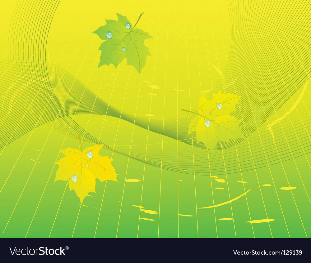 Abstract background with green leaves vector | Price: 1 Credit (USD $1)