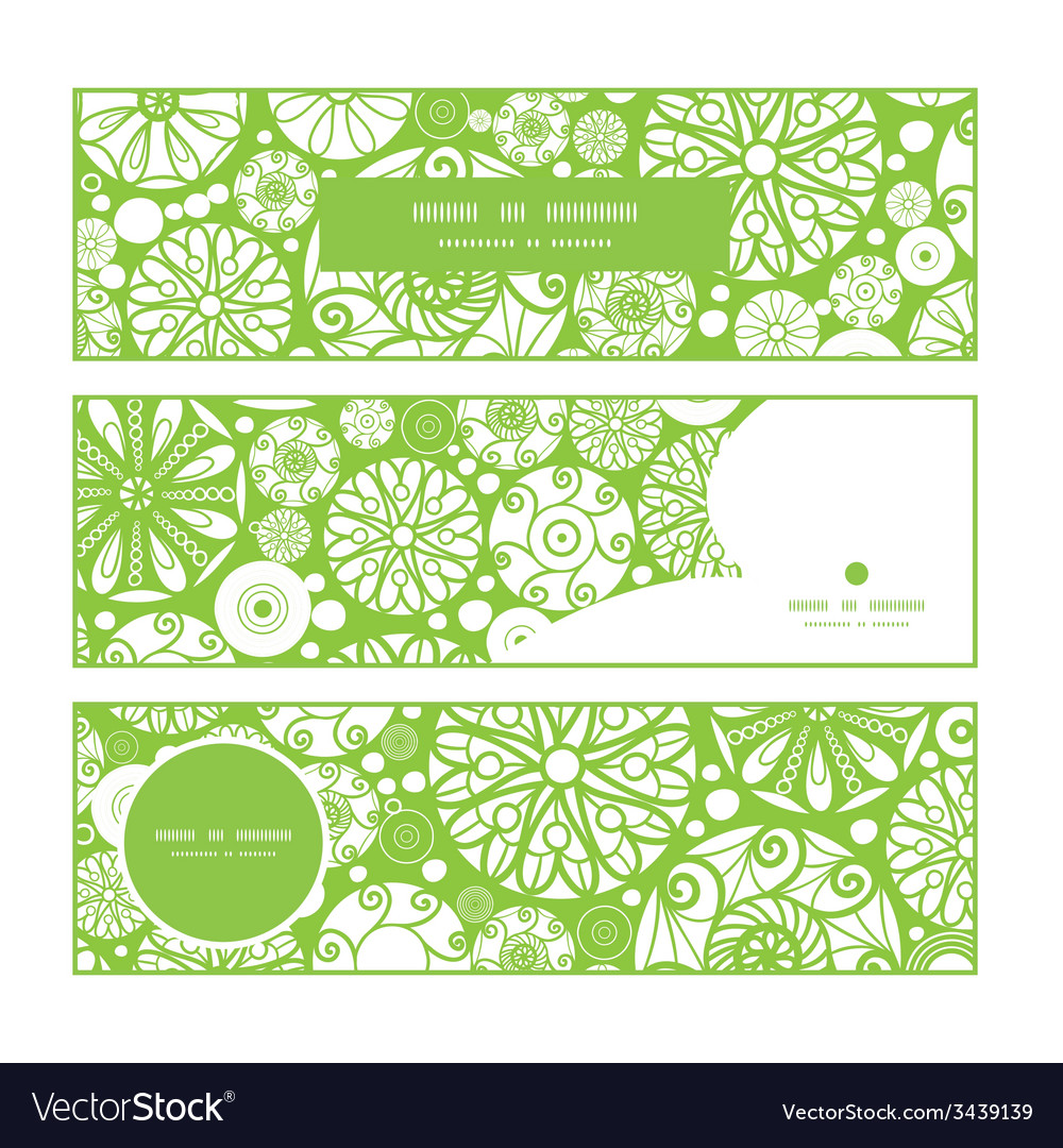 Abstract green and white circles horizontal vector | Price: 1 Credit (USD $1)