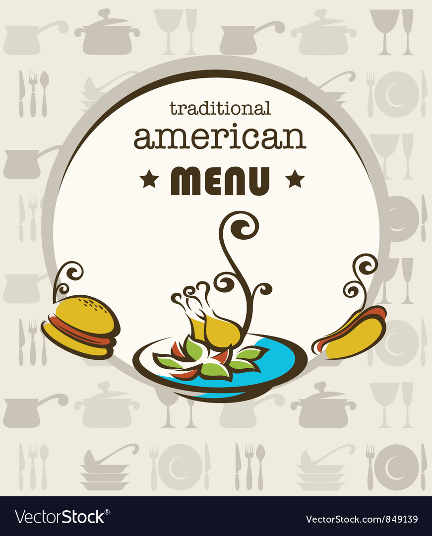 American menu vector | Price: 1 Credit (USD $1)