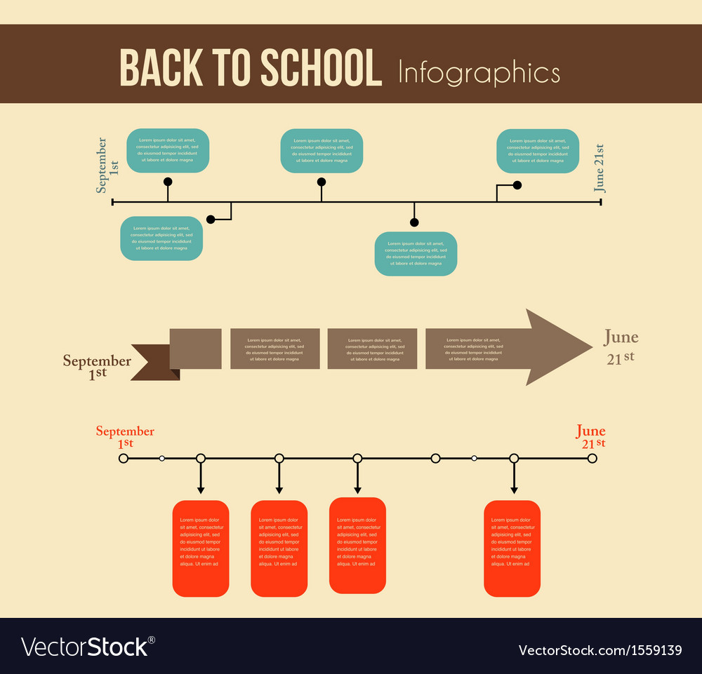 Back to school infographics education year vector   Price: 1 Credit (USD $1)